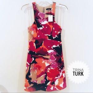 NWT Trina Turk Sleeveless Watercolor Dress Size 2
